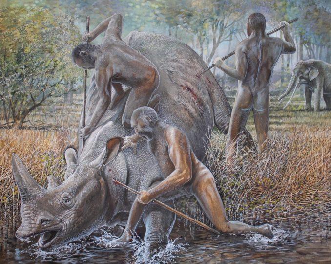 Merck's Rhinoceros, Neanderthal Man, Straight-tusked Elephant