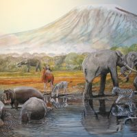 End of the Megafauna - Hippo, Boehm's Zebra, Elephant, Cattle Egret, Giraffe, Antelope, Sivathere
